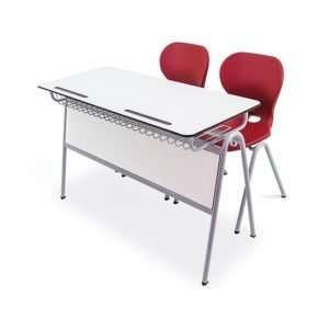 compact double school desk